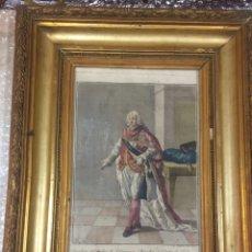 Arte: GRABADO CABALLERO REAL ORDEN DE SAN GENARO FUNDADA POR CARLOS III EN 1738.- CASA BORBÓN. Lote 192619280
