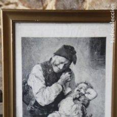 Arte: GRABADO DE ¨EL NIETO LLORÓN¨POR G. JAKOBIDES. Lote 149670806