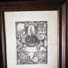 Arte: GRABADO 37/50 VALENCIA, CONMEMORACION MARCHALENES, FALLA DR OLORIZ, 1988, FIRMADO BONORA PEYRO.. Lote 149685857