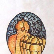 Arte: FIDEL LÓPEZ SALVADOR. SERIGRAFÍA P.A. GAUDÍ ARTS. COLOREADA Y ENRIQUECIDA A MANO. FIRMADA. 1965.. Lote 149978666