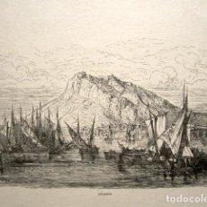 Arte: GRABADO GUSTAVO DORÉ. VALENCIA. ILUSTRACIONES DE 1862-1864. TÍTULO: ALICANTE. . Lote 149993926