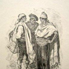 Arte: GRABADO GUSTAVO DORÉ. VALENCIA. ILUSTRACIONES DE 1862-1864. TÍTULO: PAISAJES DE ALICANTE. . Lote 149994074
