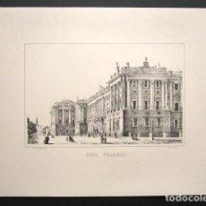 Arte: GRABADO DEL REAL PALACIO DE MADRID. . Lote 149994490