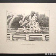 Arte: GRABADO FUENTE DE CIBELES. . Lote 149995374