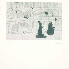 Arte: GRABADO ORIGINAL DE JORDI CANO -LLEGIT I- FIRMADO Y NUMERADO 62 X 72 CM. Lote 150058042