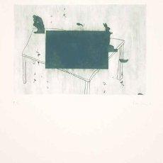 Arte: GRABADO ORIGINAL DE JORDI CANO -LLEGIT III- FIRMADO Y NUMERADO 72 X 62 CM. Lote 150058214