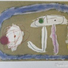 Arte: JOAN MIRÓ GRABADO ORIGINAL FIRMADO A LAPIZ,E.A.,CARTONES 8: PERSONNAGE,29X20 CMS. Lote 150103198