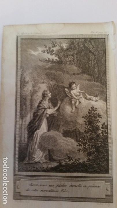MARILLIER. GRABADO A BURIL. ESCENA MITOLÓGICA. SIGLO XVIII, (Arte - Grabados - Contemporáneos siglo XX)