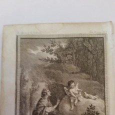 Arte: MARILLIER. GRABADO A BURIL. ESCENA MITOLÓGICA. SIGLO XVIII,. Lote 150124794