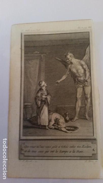 MARILLIER. GRABADO A BURIL. ESCENA DE LAS MIL Y UNA NOCHES SIGLO XVIII, (Arte - Grabados - Contemporáneos siglo XX)
