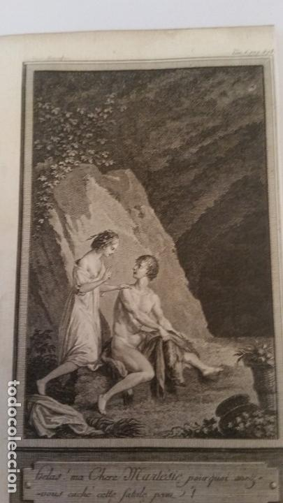 1735. MARILLIER. GRABADO A BURIL. ESCENA GALANTE. (Arte - Grabados - Contemporáneos siglo XX)