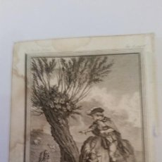 Arte: MARILLIER. GRABADO A BURIL. ESCENA GALANTE. SIGLO XVIII,. Lote 150124198