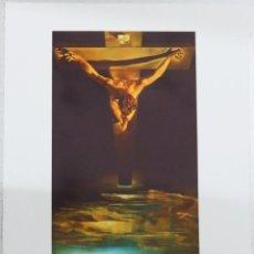 Arte: IMPRESIONANTE GRABADO DE DALI, CRISTO DE SAN JUAN DE LA CRUZ DE 1951,FIRMADO Y NUMERADO,50 X 65 CM. Lote 125029171