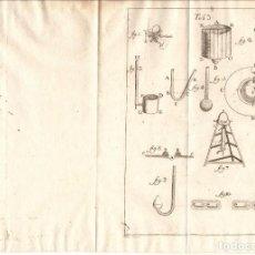 Arte: TRES LÁMINAS DE INSTRUMENTOS Y EXPERIMENTOS DE FÍSICA (C. 1780). Lote 150225906