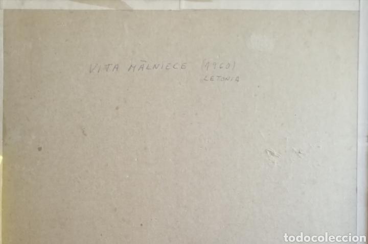 Arte: Vita Malniece, 1960, Letonia. Grabado firmado y titulado. - Foto 5 - 150377293