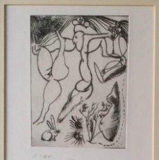 Arte: JORGE CASTILLO: GRABADO ÚNICO, COLECCIÓN MANUS PRESSE, 1971. Lote 150443050