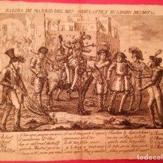 Arte: GUERRA INDEPENDENCIA ESPAÑOLA,GRABADO ORIGINAL 1808-1814 CONTRA REY JOSE NAPOLEON,PRENSA CLANDESTINA. Lote 158721556