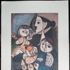 Arte: PABLO PICASSO GRABADO ORIGINAL FIRMADO A LAPIZ,NUMERADO Nº 5/100,MATERNITA' E ARANCIA , 29X20 CMS. Lote 150725934