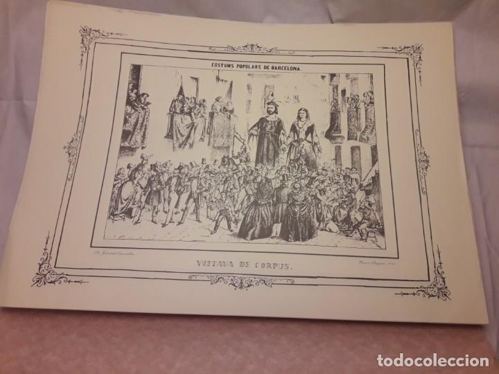 Arte: Colección dibujos de Ramón Puiggari (1860) costumbres populares de Barcelona - Foto 6 - 216407015