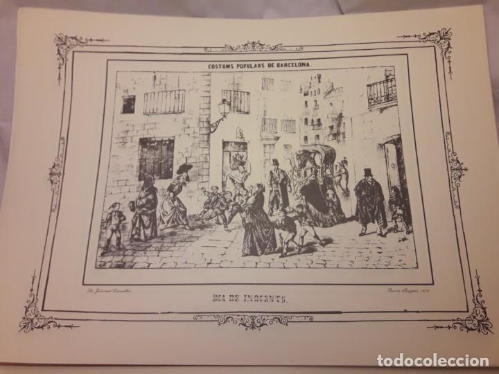 Arte: Colección dibujos de Ramón Puiggari (1860) costumbres populares de Barcelona - Foto 7 - 216407015