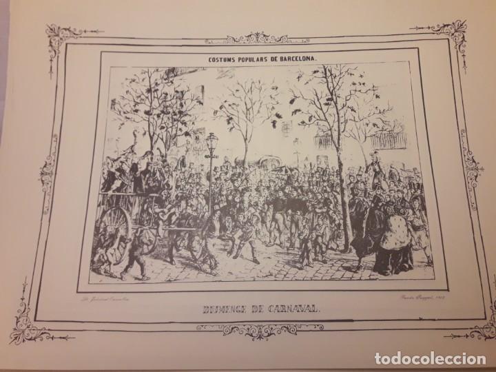 Arte: Colección dibujos de Ramón Puiggari (1860) costumbres populares de Barcelona - Foto 2 - 216407015