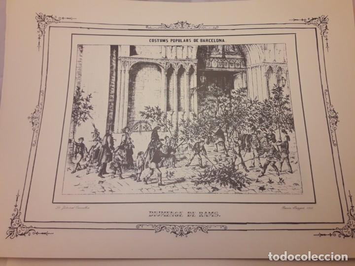 Arte: Colección dibujos de Ramón Puiggari (1860) costumbres populares de Barcelona - Foto 3 - 216407015