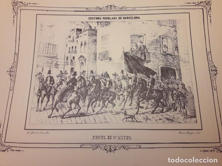 Arte: Colección dibujos de Ramón Puiggari (1860) costumbres populares de Barcelona - Foto 4 - 216407015