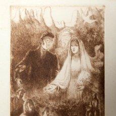 Arte: ALFRED OPISSO - AGUAFUERTE - MONTSERRAT. Lote 150989302