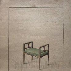 Arte: GRABADO MUEBLE ANTIGUO. SELLO TALLER DE EBANISTERÍA Y TAPICERÍA R. LLIMÓS J. VALVERDE 22X29,5 CM. Lote 151054166