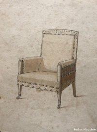 Grabado mueble antiguo 16,7x22,5 cm