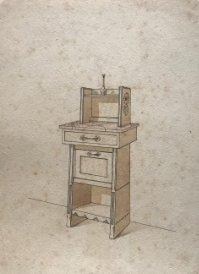 Grabado mueble antiguo 16,7x23,5 cm