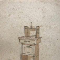 Arte: GRABADO MUEBLE ANTIGUO 16,7X23,5 CM. Lote 151055094