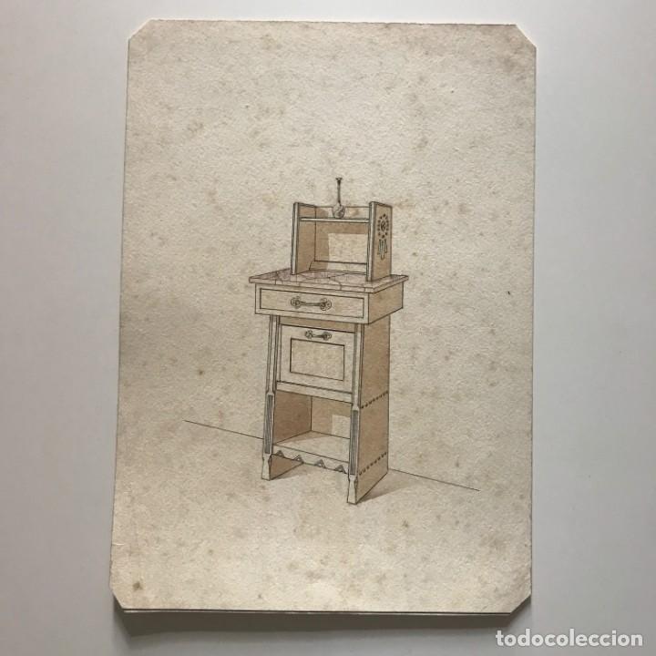 Grabado mueble antiguo 16,7x23,5 cm - 151055094