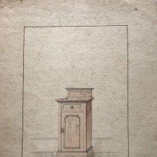 Arte: GRABADO MUEBLE ANTIGUO. SELLO TALLER DE EBANISTERÍA Y TAPICERÍA R. LLIMÓS J. VALVERDE 22,1X31,6 CM. Lote 151055486