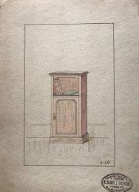 Grabado mueble antiguo. Sello taller de ebanistería y tapicería R. Llimós J. Valverde 22x31,5 cm
