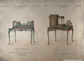 Grabado mueble antiguo. L'Ameublement. Collection Simple. 35,8x27,5 cm