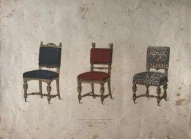 Grabado mueble antiguo. 35,6x28 cm