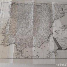 Arte: MAPA GENERAL DE ESPAÑA DIVIDIDO EN SUS ACTUALES PROVINCIAS BENITO MONFORT 1783 SIGLO XVIII PLANO. Lote 151221370