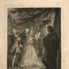 Arte: LE ROI DES MENTRIERS. H. COLIN SE. PHILIPPOTEAUX. GRABADO PASPARTÚ BISELADO. Lote 151363414