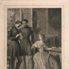 Arte: LA PRINCESSE BLEUE. H. COLIN SE. PHILIPPOTEAUX. GRABADO CON PASPARTÚ BISELADO DE COLOR BEIGE. Lote 151363994