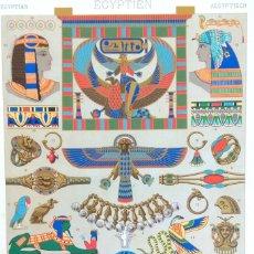 Arte: GRABADO ANTIGUO JOYERIA EGIPCIA CON CERTIF. AUTENT. GRABADO ORNAMENTACIÓN ANTIGUO EGIPTO. Lote 151365250