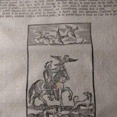 Arte: 568. MAISON RUSTIQUE. CAPÍTULO DE LA CETRERÍA · HALCONES · 9 GRABADOS XILOGRÁFICOS · 1772. 35 PÁG.. Lote 151376282