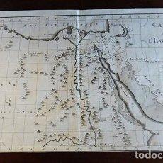 Arte: MAPA HISTÓRICO DE EGIPTO DE 1729. Lote 151381702