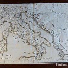 Arte: MAPA HISTÓRICO DE ITALIA DE 1729. Lote 151382638