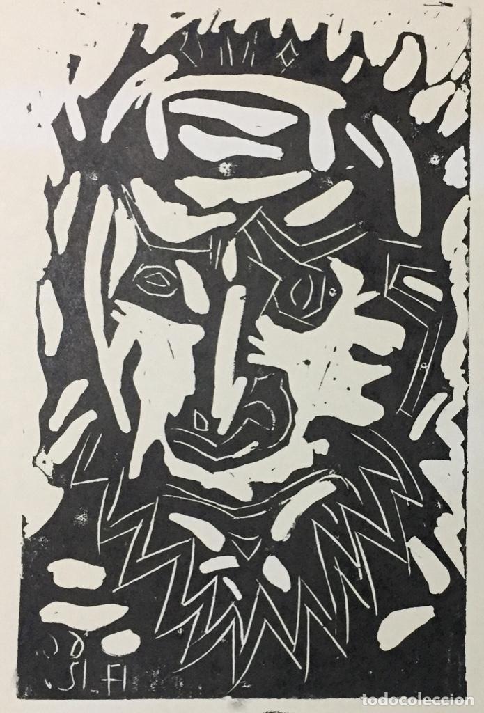 Arte: PICASSO - GRABADO LITOGRAFÍA ORIGINAL FIRMADA A MANO - CABEZA DE HOMBRE BARBUDO - 33 x 24 cm. - Foto 3 - 151463034