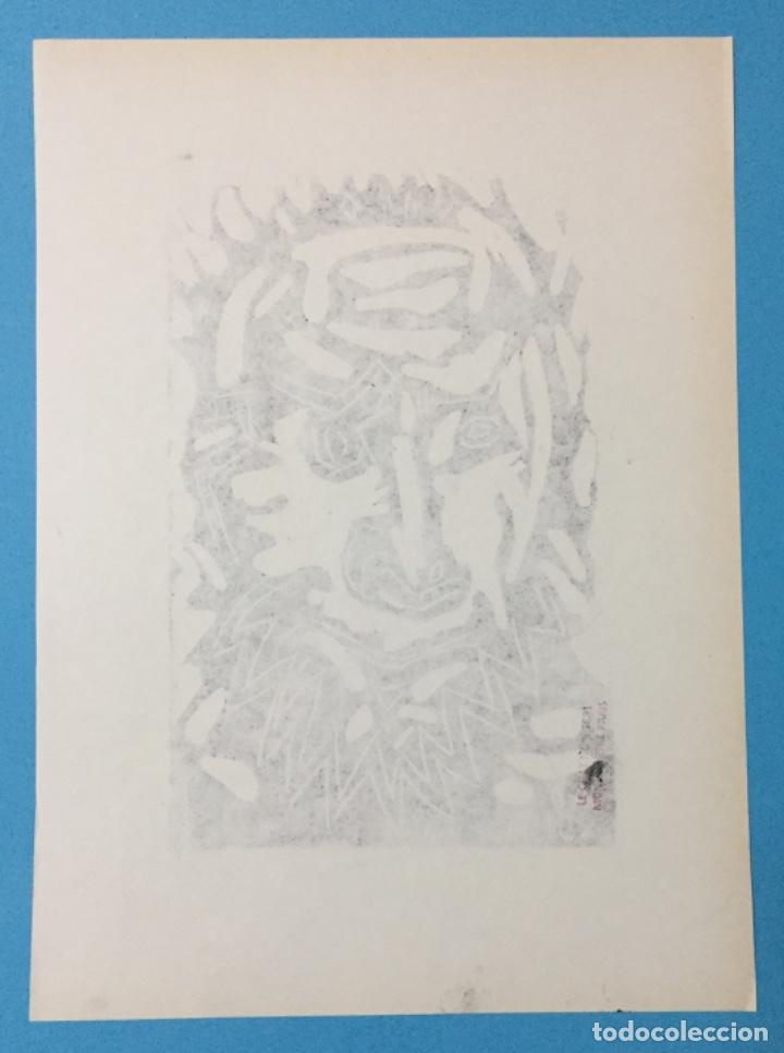 Arte: PICASSO - GRABADO LITOGRAFÍA ORIGINAL FIRMADA A MANO - CABEZA DE HOMBRE BARBUDO - 33 x 24 cm. - Foto 6 - 151463034