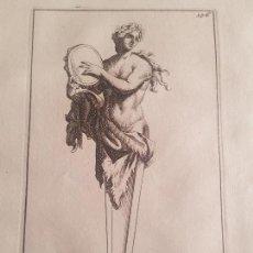 Arte: BACANTE – MITOLOGÍA - GRABADO FRANCÉS ORIGINAL DEL SIGLO XVII DE THOMASSIN – AÑO 1694. Lote 151497078