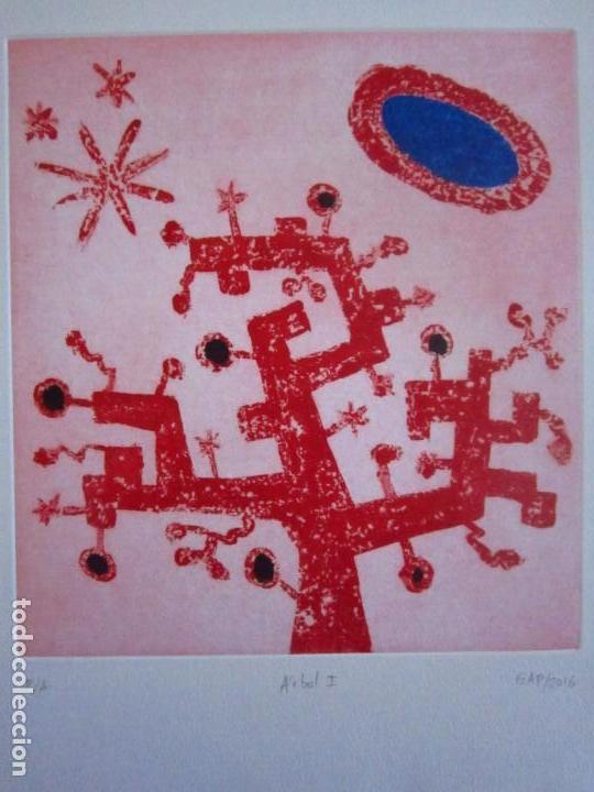 ÁRBOL I GRABADO DE GAP (GUILLERMO ANTÓN PARDO) - 28X38 CM (Arte - Grabados - Contemporáneos siglo XX)