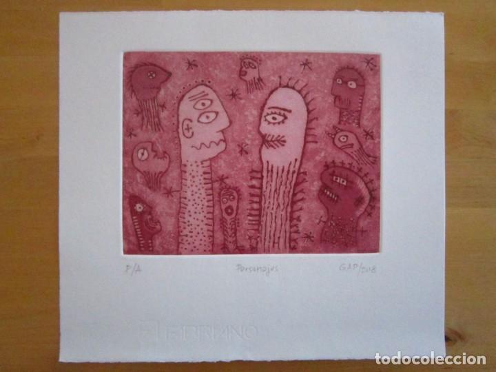 Arte: Personajes - Grabado de GAP (Guillermo Antón Pardo) - 26,5 x 29,5 cm - Foto 7 - 151524414
