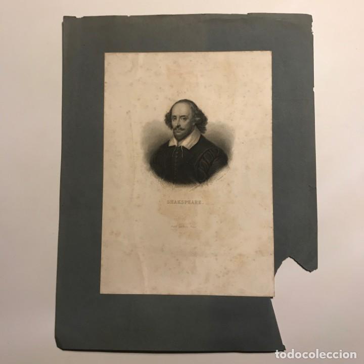 Arte: Shakspeare. Publié par Furne. París 15,2x21,6cm cartulina 22,8x29,7cm - Foto 2 - 149278174